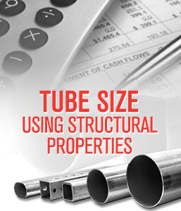 Calculate Tube Size Using Structural Properties