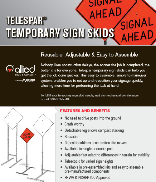 Telespar Temporary Sign Skids