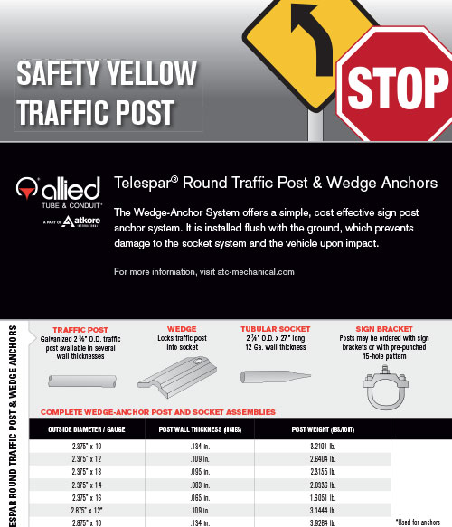 telespar-safety-yellow-traffic-post