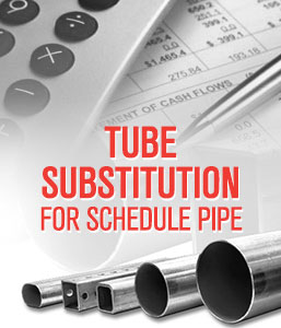 Calculate Tube Substitution for Schedule Pipe